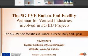 5G EVE Webinar 9 May 2019