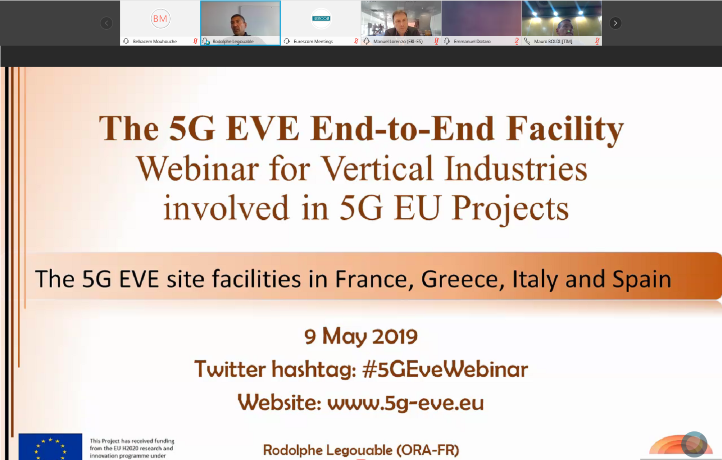 Webinar on the 5G EVE end-to-end facility for verticals