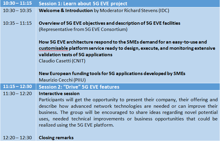 5G EVE Learn and Drive