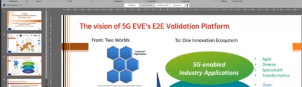 5G EVE at Online Workshop on 5G Trials in Europe